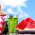 Арбуз и холодный коктейль - Watermelon and cold cocktail