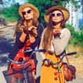 Девушки в шляпах и очках - Girls in hats and sunglasses