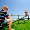 Дети на качеле - Children on swing