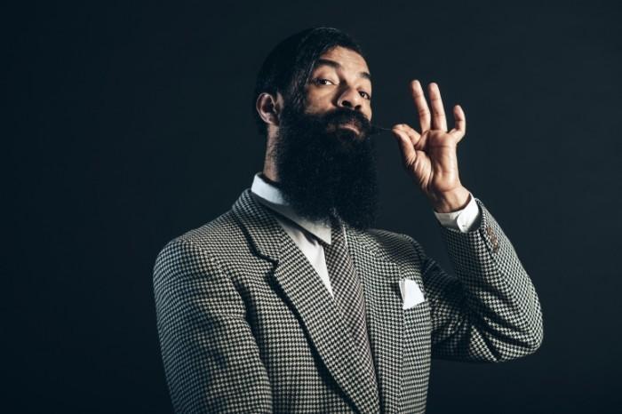 Стильный с бородой