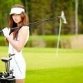 Девушка с клюшкой для гольфа - Girl with a golf club