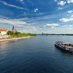 Река в Риге - River in Riga