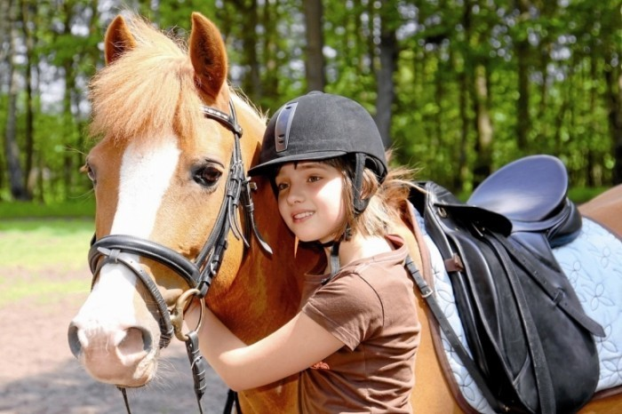 fotolia 23511968 m 700x466 Девочка с лошадью   Girl with a horse
