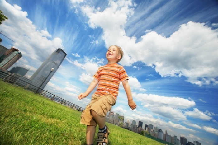 shutterstock 15113536 700x466 Мальчик на траве   Boy on the grass