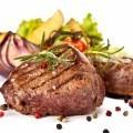 Стейк мяса - Grilled meat