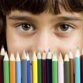 Девочка с цветными карандашами - Girl with colored pencils