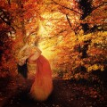 Девушка в осенних деревьях - Girl in autumn trees