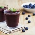 Черничный смузи - Blueberry smoothies