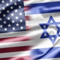 Американский и израильский флаг - American and Israeli flag