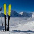 Лыжи в снегу - Skiing in the snow