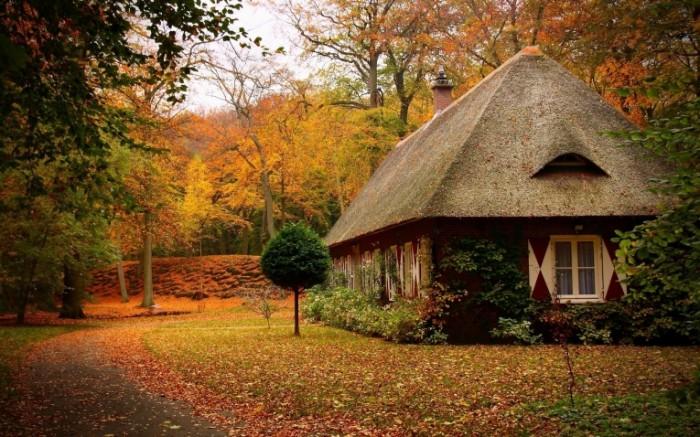 goodwp com 15584 700x437 Осенний пейзаж с домом   Autumn landscape with a house