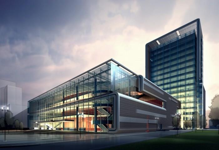 shutterstock 110160008 700x481 Стекляное здание   Glass Building