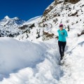Пробежка по снегу - Jogging in the snow