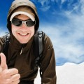 Турист с жестом класс - Tourist class with gesture