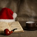 Библия и новогодний колпак - Bible and the New Year's cap