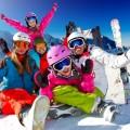 Семья на лыжах - Family skiing