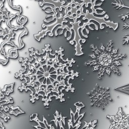 Фон с снежинками - Background with snowflakes