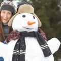 Девушка со снеговиком - Girl with snowman