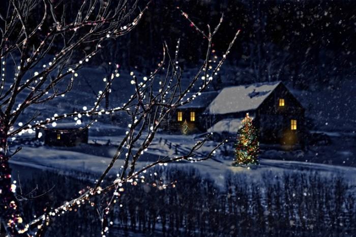 shutterstock 88313929 700x466 Дом зимой   House in winter