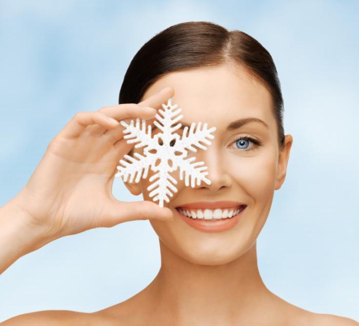 starterset1 700x635 Девушка со снежинкой   Girl with snowflake