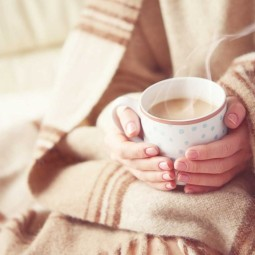Уютный плед и чашка какао - Cozy blanket and a cup of cocoa