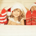 Семья в новогодних колпаках - Family in Christmas hats