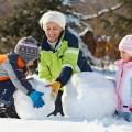Семья со снеговиком - Family with snowman