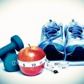 Кроссовки и гантель - Running shoes and dumbbell