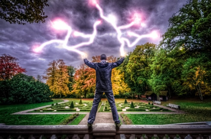 The electric runner free license cc0 700x460 Человек молния   Man lightening