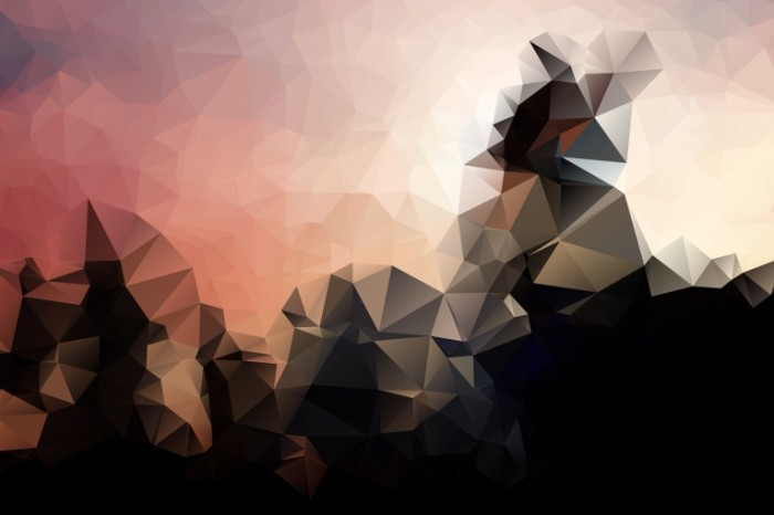 Low Poly Background 700x466  Абстракция горы   Abstraction mountains