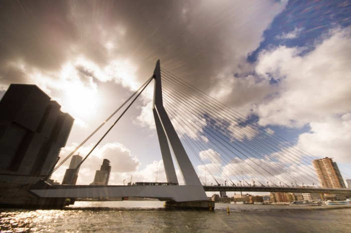 The Erasmus bridge free license CC0 700x465 Высокий мост   High bridge