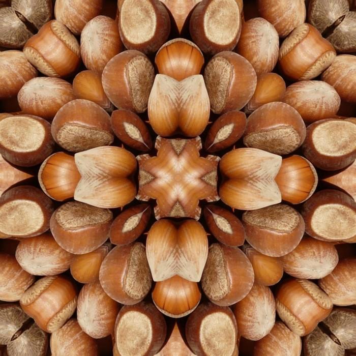 hazelnutsquaremosaic3 700x700 Nuts mosaic   Мозаика из орехов