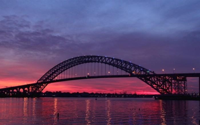 usa new jersey bayonne bridge river sunset twilight the u s state of new jersey 2880x1800 sc 700x437 США Нью Джерси   USA New Jersey