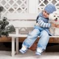 Ребенок со щенком - Child with the puppy