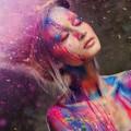 Девушка в краске - Girl in the paint