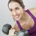 Упражнение с гантелями - Exercise with dumbbells