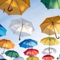 Разноцветные зонтики- Multi-colored umbrellas