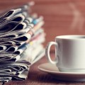 Чашка и газеты - A cup and a newspaper