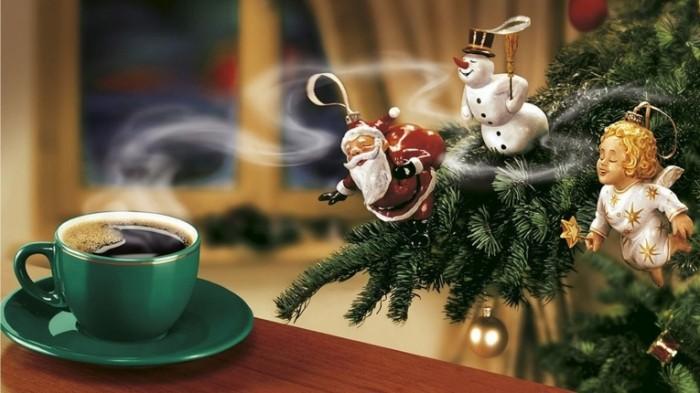 1480228399583a7e2f576649 75582742 700x393 Чашка кофе и новогодняя елка   Cup of coffee and christmas tree