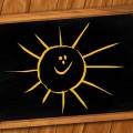 Солнце нарисованное на школьно доске - Sun drawn on the blackboard