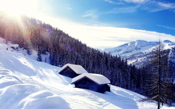 14797940785833dd9e7aa298.11434788 700x437 Домик в снежных горах   Cabin in the snowy mountains