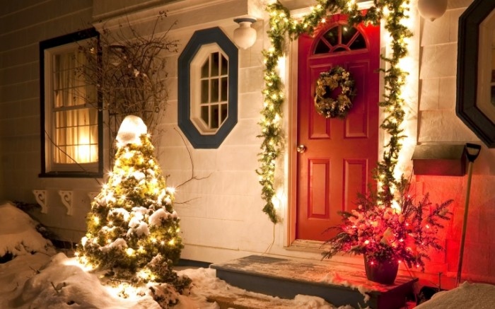 ogni sneg novyj god zima el prazdnik rozdestvo dekabr 700x437 Новогоднее настроение   Christmas mood