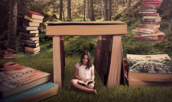 0a4d934e900dfb5 700x414 Девушка в мире книг   Girl in a world of books