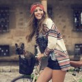 Девушка с собакой на велосипеде - Girl with a dog on a bicycle