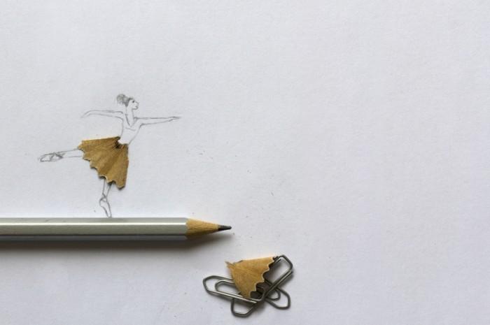 ballerina pencil paper clips shavings 700x465 Стружка карандаша   Pencil shavings