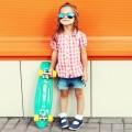 Девочка со скейтбордом - Girl with a skateboard