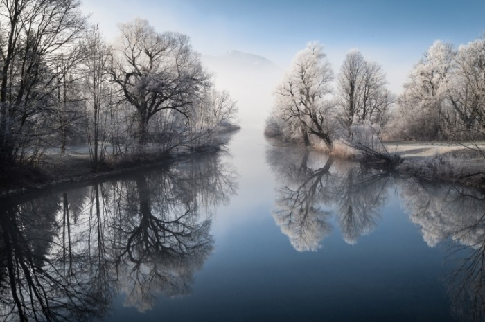 reka priroda zima 700x465 Зимняя река   Winter river