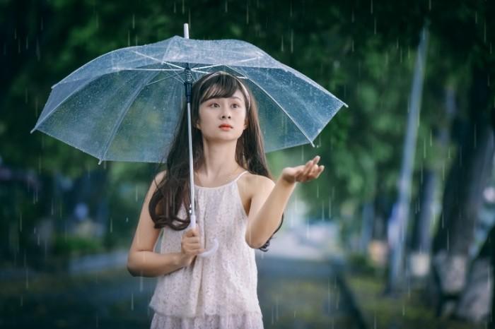 devushka vostochnaya lico zontik 700x466 Дождь   Rain
