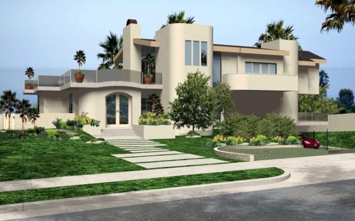 dizajn kusty doma kalifornia osobnak landsaft malibu 700x437 Особняк   Mansion