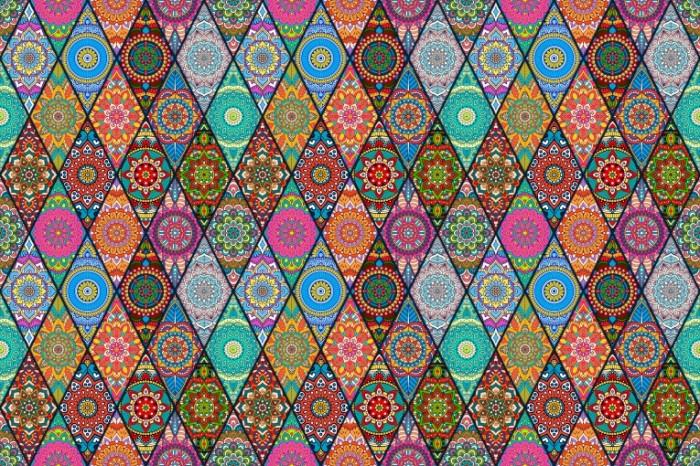 romby uzory cvety 700x466 Ромб узор   Diamond pattern